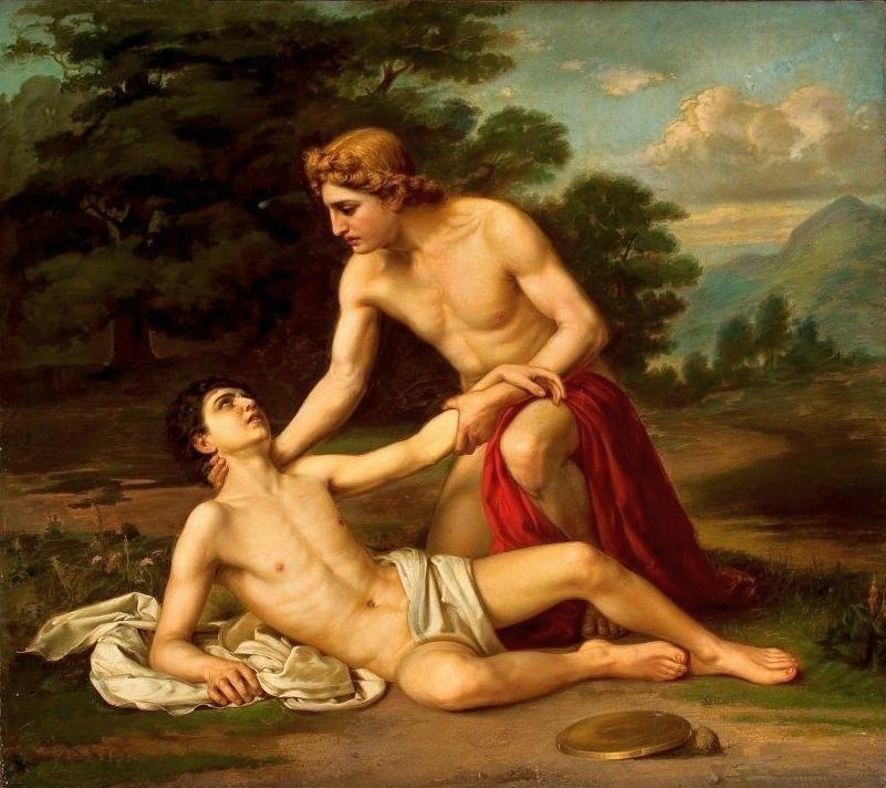 Александр Александрович Киселев. Гиацинт, умирающий на руках Аполлона