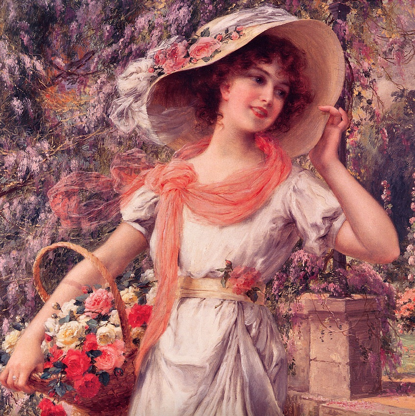 Emile Vernon. Flower girl
