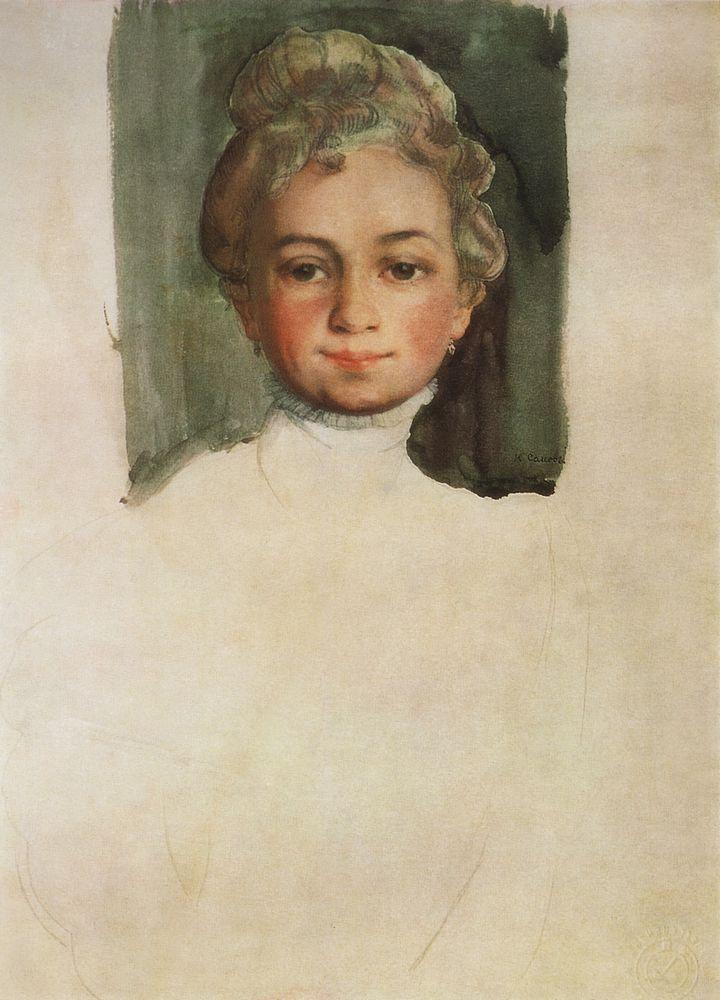 Константин Андреевич Сомов. Голова девушки