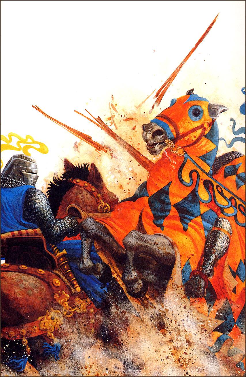James Christensen. On horseback