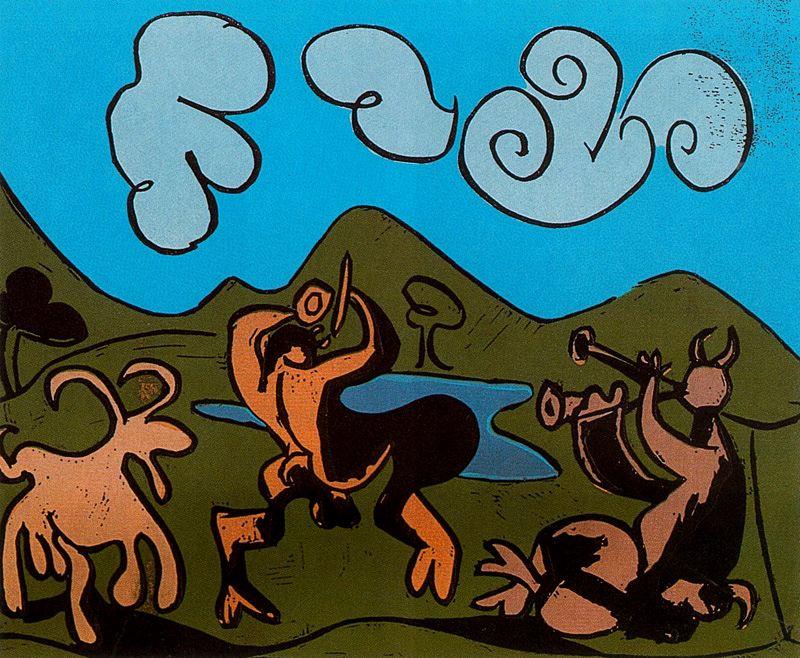 Пабло Пикассо. Фавны и козел