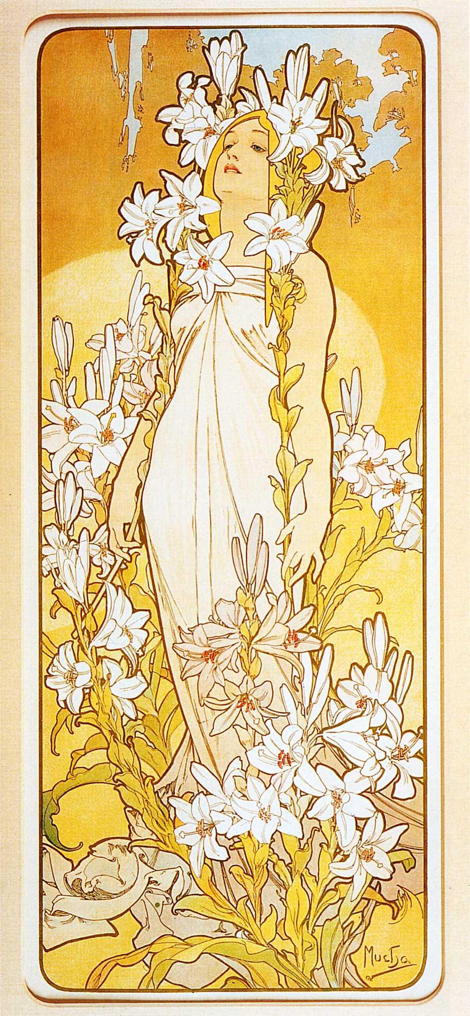 Alphonse Mucha. Flowers: Lily