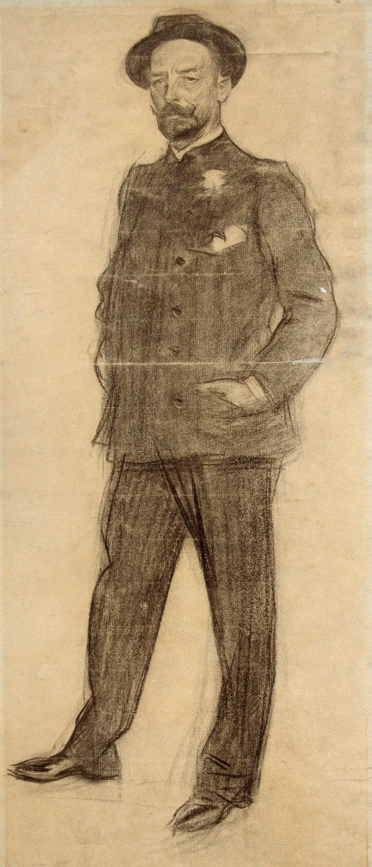 Ramon Casas i Carbó. Portrait of Baldomer Galofre