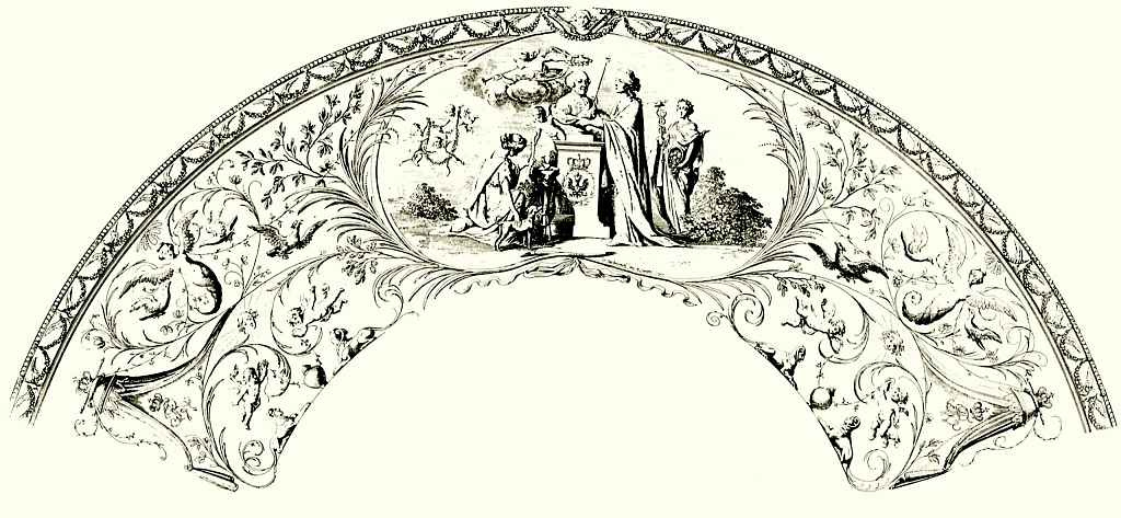 Даниэль  Николай Ходовецкий. Аллегория на принесение присяги королём Фридрихом Вильгельмом II