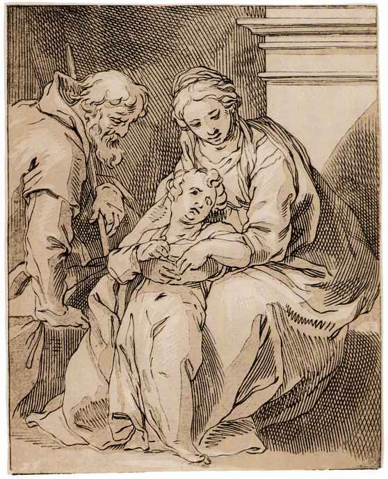 Абрахам Блумарт. Святое семейство у камина