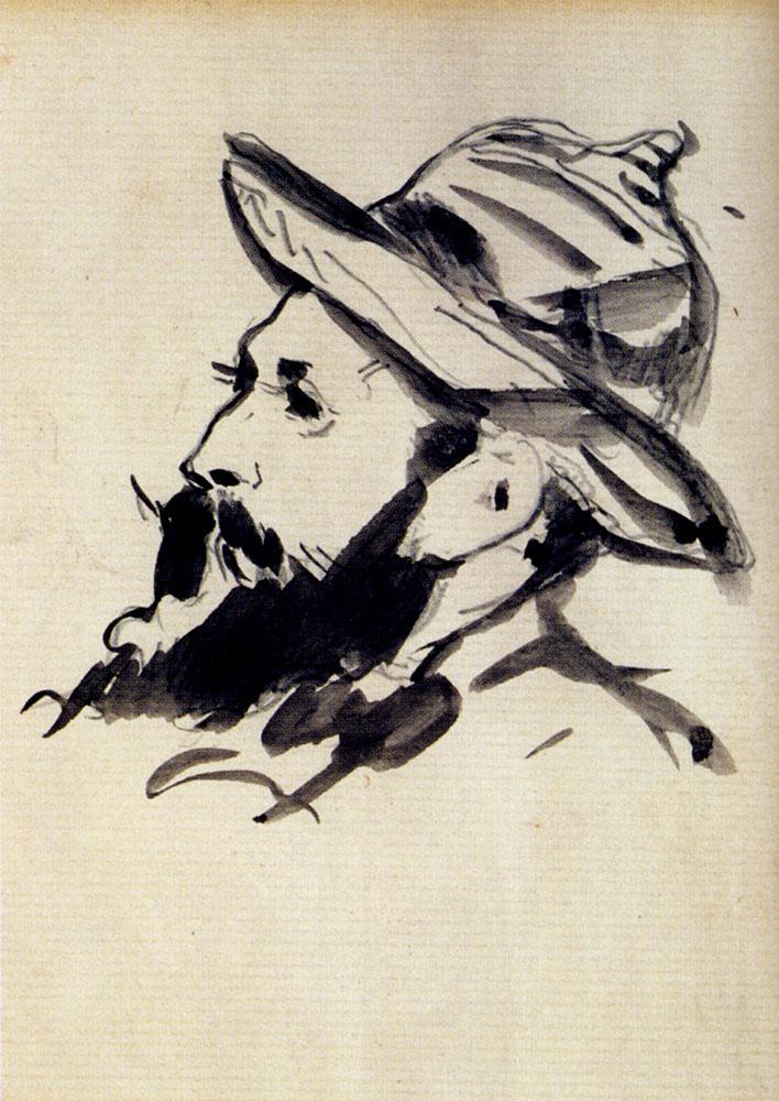 Edouard Manet. Head of a man (Claude Monet)