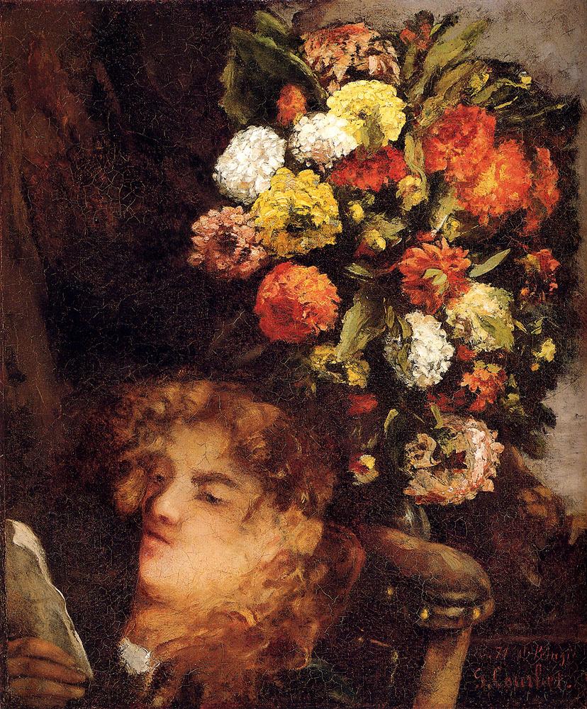 Гюстав Курбе. Голова женщины с цветами