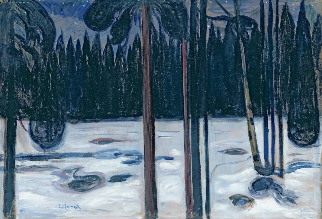 Edward Munch. Winter forest