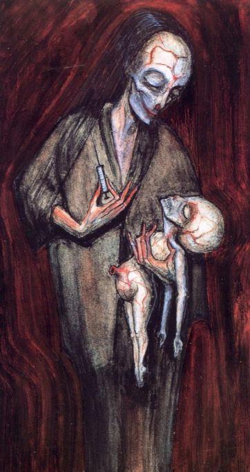 Ганс Рудольф Гигер. Мать и дитя
