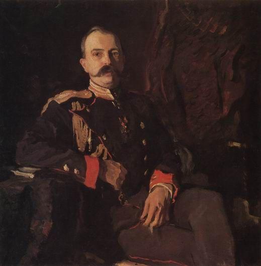 Валентин Александрович Серов. Портрет Великого Князя Георгия Михайловича