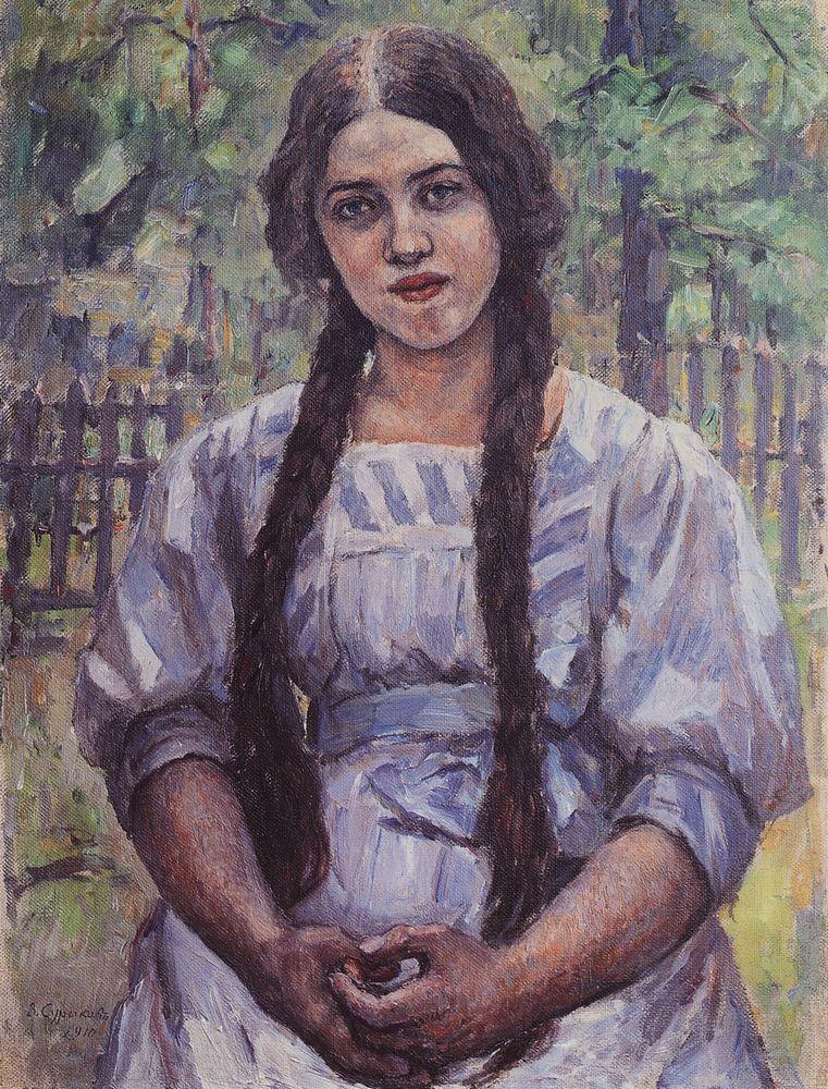 Василий Иванович Суриков. Девушка с косами