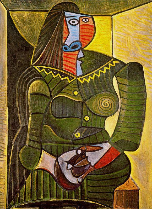 Пабло Пикассо. Женщина в зеленом (Дора Маар)