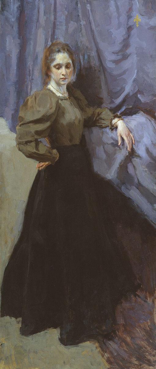 Osip Emmanuilovich (Joseph) Braz. Portrait of Elizabeth Mikhaylovna Martynova. 1896