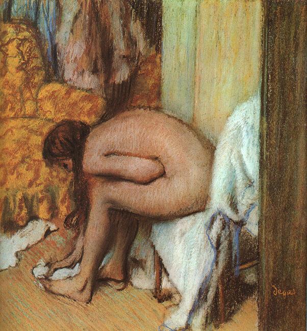 Эдгар Дега. После ванны - женщина вытирает ноги