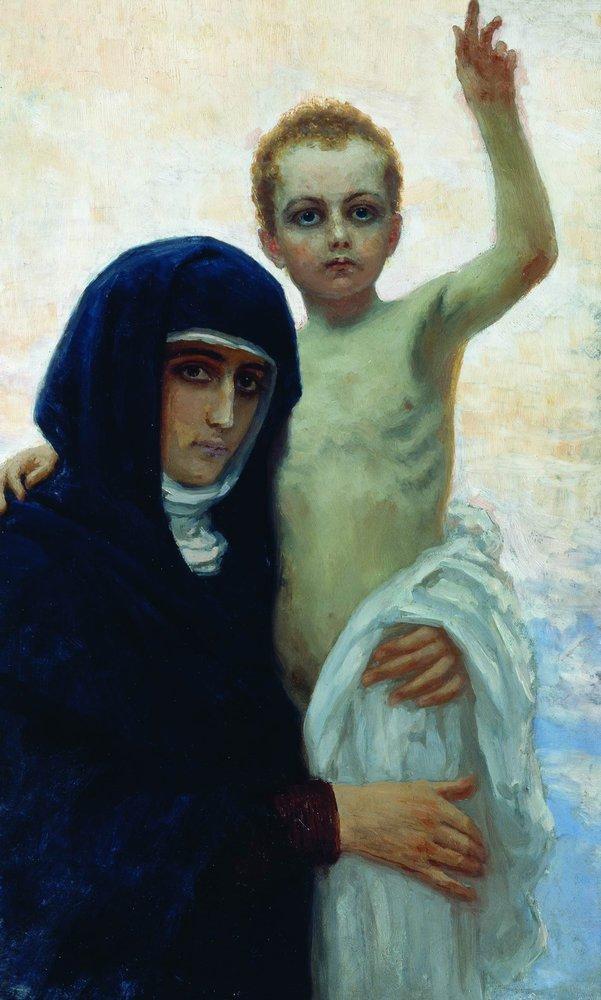 Илья Ефимович Репин. Богоматерь с младенцем