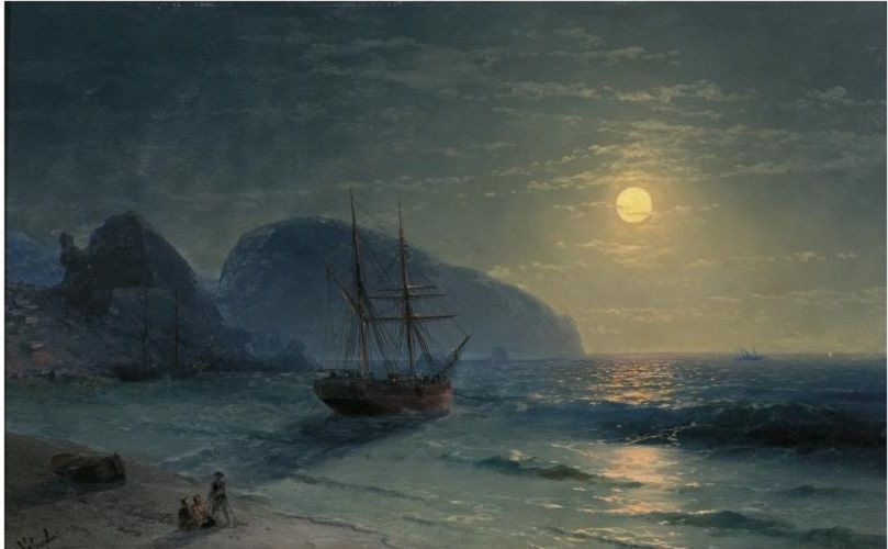 Ivan Aivazovsky. Full moon over the Ayu-Dag