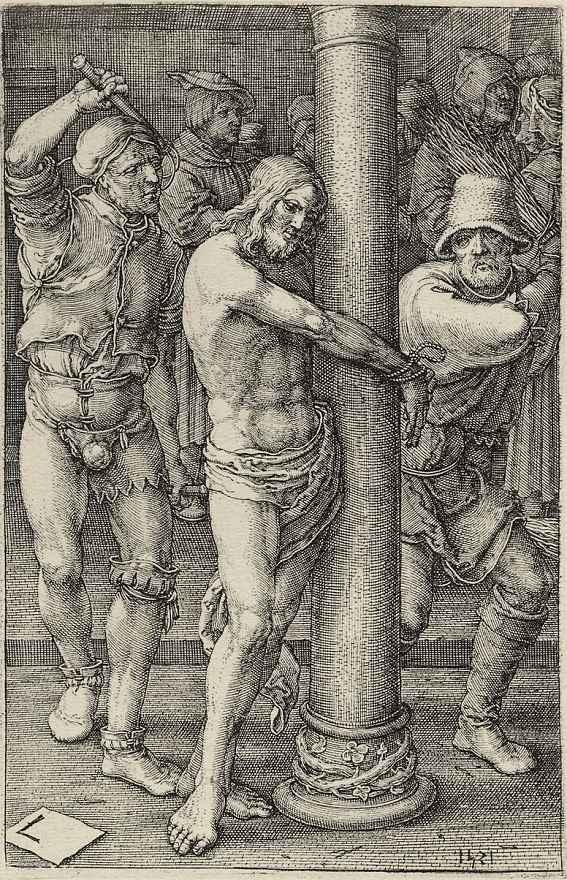 Лукас ван Лейден (Лука Лейденский). Бичевание Христа