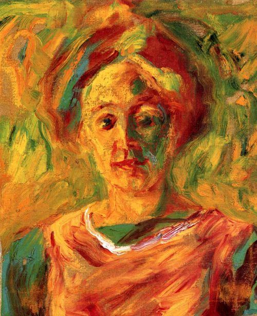Эмиль Нольде. Портрет Ады в зеленом платье