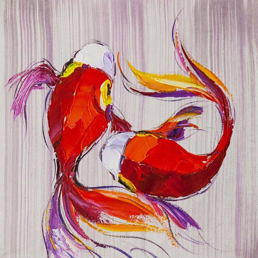 Jose Rodriguez. Koi carps. Japanese goldfish for good luck N4