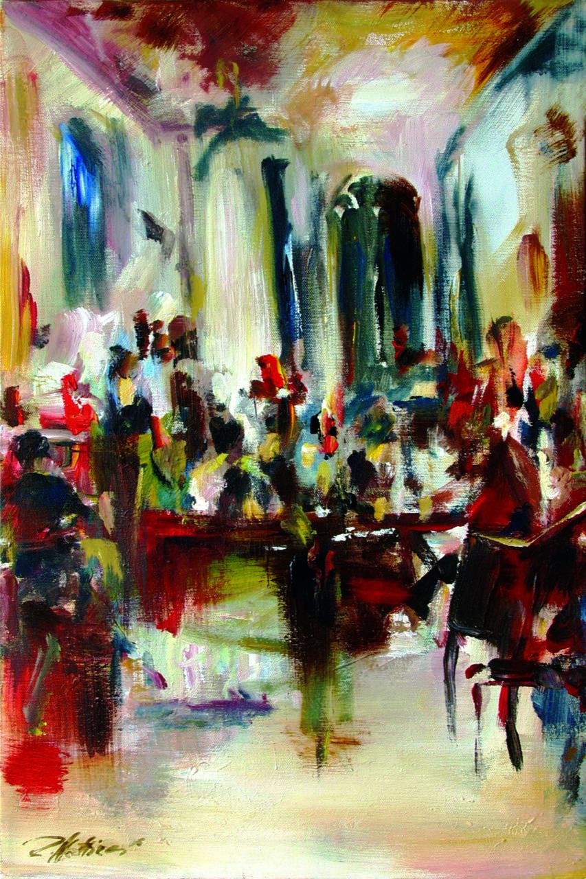 Robert Hettich. In the cafe