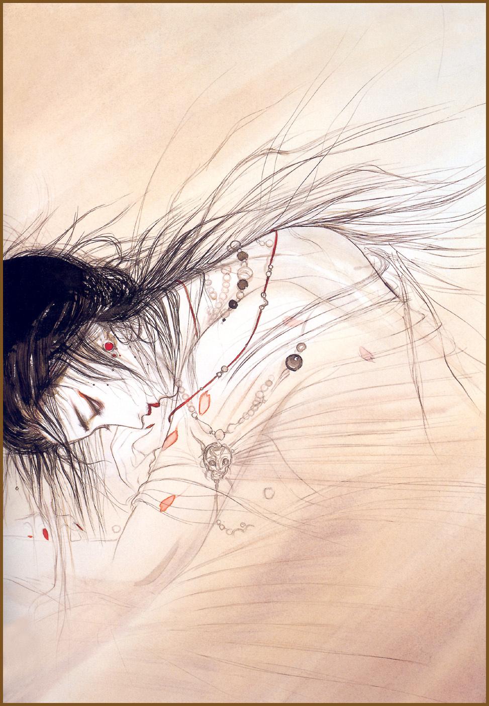 Yoshitaka Amano. Hand drawn fantasy Amano Еситака65
