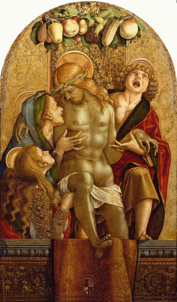 Карло Кривелли. Плач над мертвым Христом