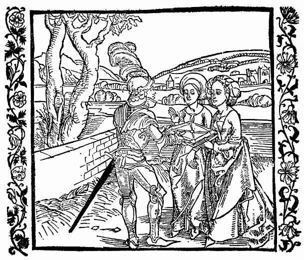Альбрехт Дюрер. Рыцарь де ля Тур вручает книгу дочерям