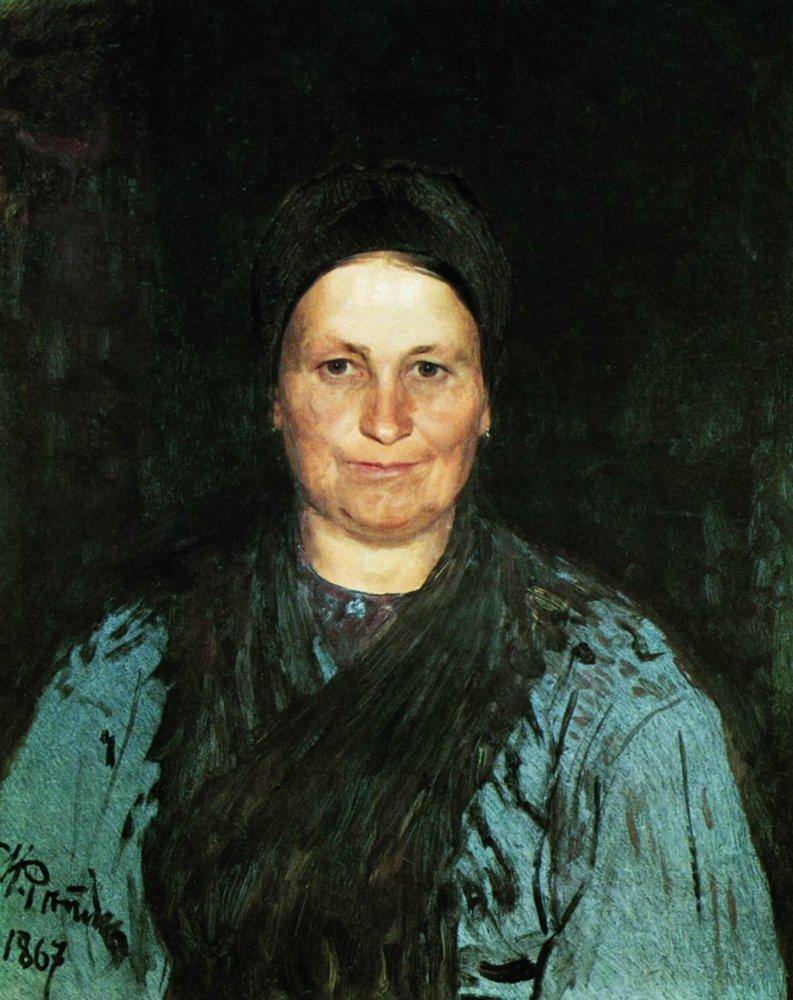 Илья Ефимович Репин. Портрет матери художника Т. С. Репиной