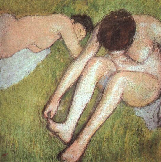 Эдгар Дега. Купальщицы на траве