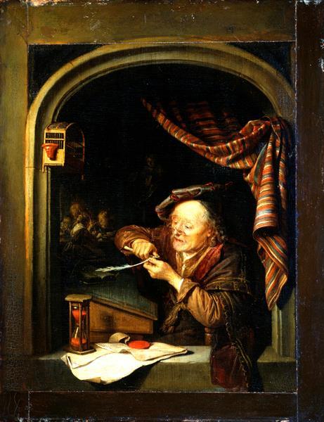 Gerrit (Gerard) Dow. Old teacher