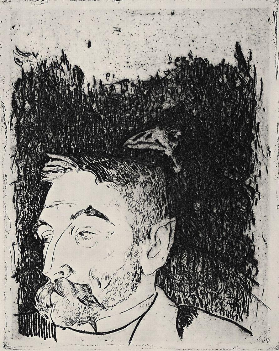 Paul Gauguin. Portrait Of Stéphane Mallarmé