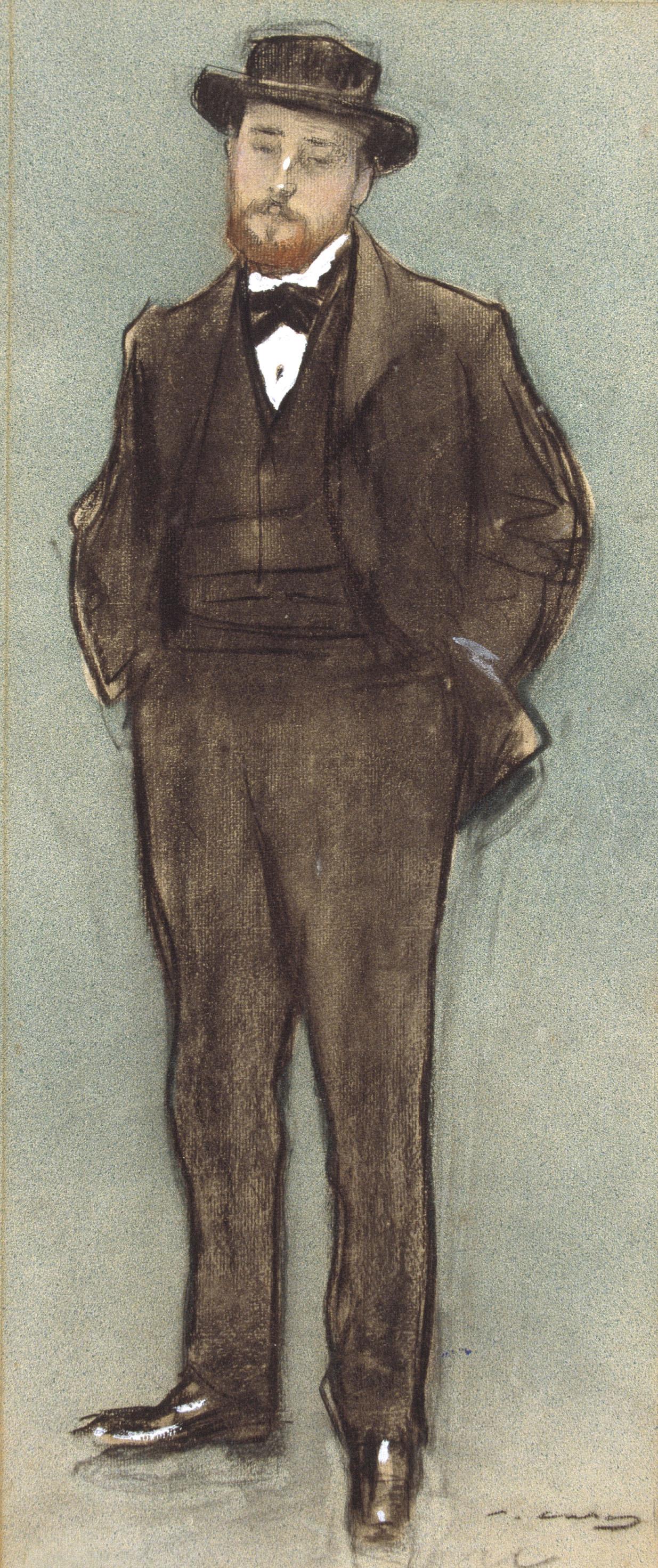 Ramon Casas i Carbó. Portrait of Josep Codin