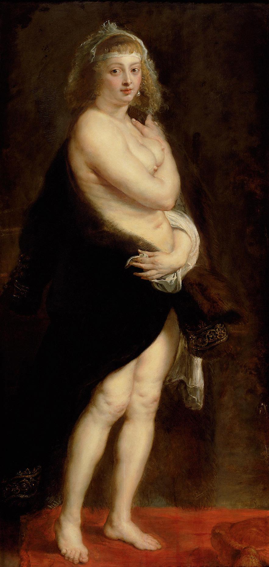 Peter Paul Rubens. Portrait of Helena Fourment (The little fur coat)