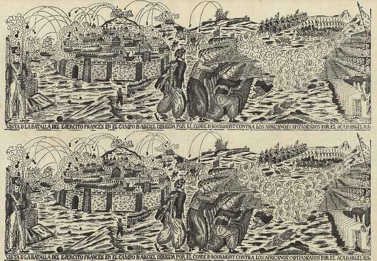 Хосе Симо. Сражение французов против алжирцев