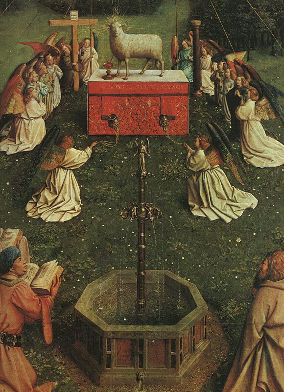 Хуберт ван Эйк. Гентский алтарь (фрагмент)