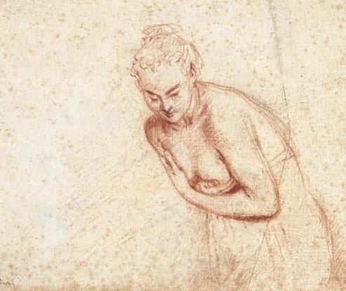 Antoine Watteau. A female nude