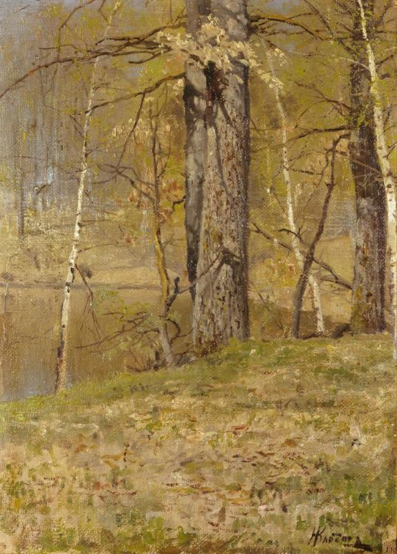 Nikolay Alexandrovich Klodt (von Jurgensburg). Park by the pond