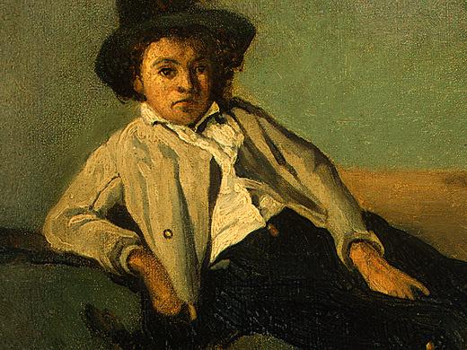 Камиль Коро. Итальянский мальчик (фрагмент)