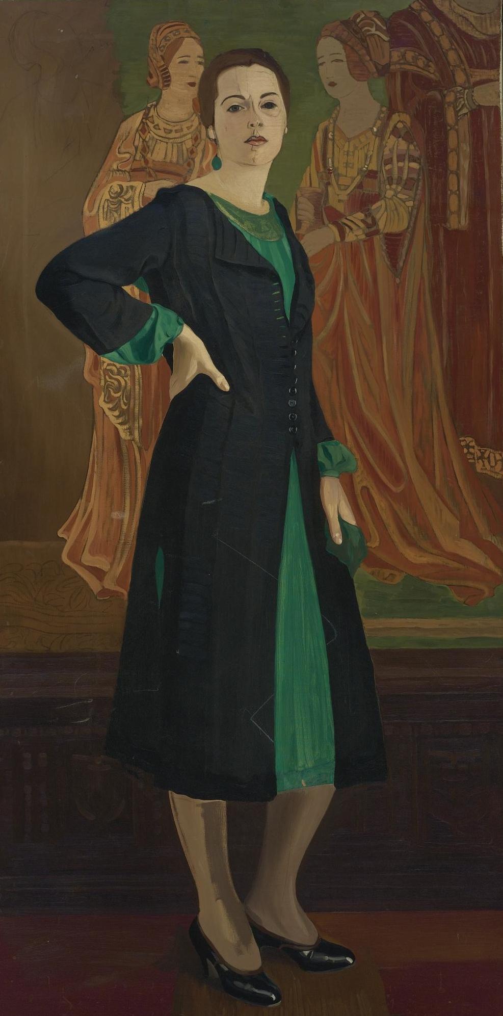 Svyatoslav Nikolaevich Roerich. Katherine Campbell in a green dress