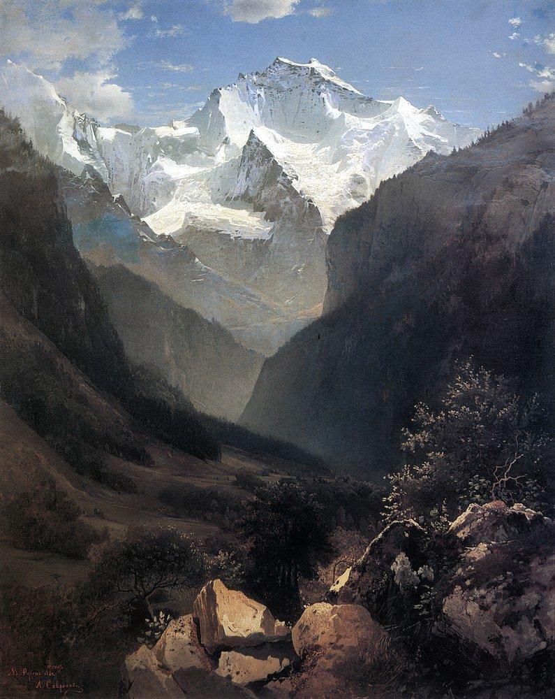 Алексей Кондратьевич Саврасов. Вид в Швейцарских Альпах