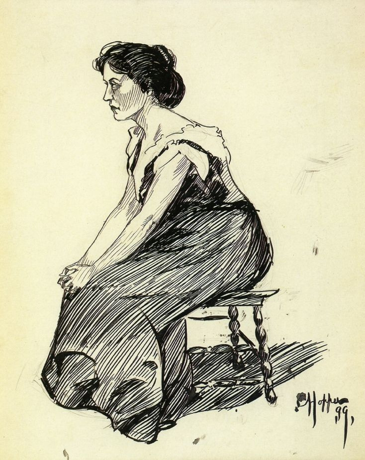 Edward Hopper. Seated woman (sketch)