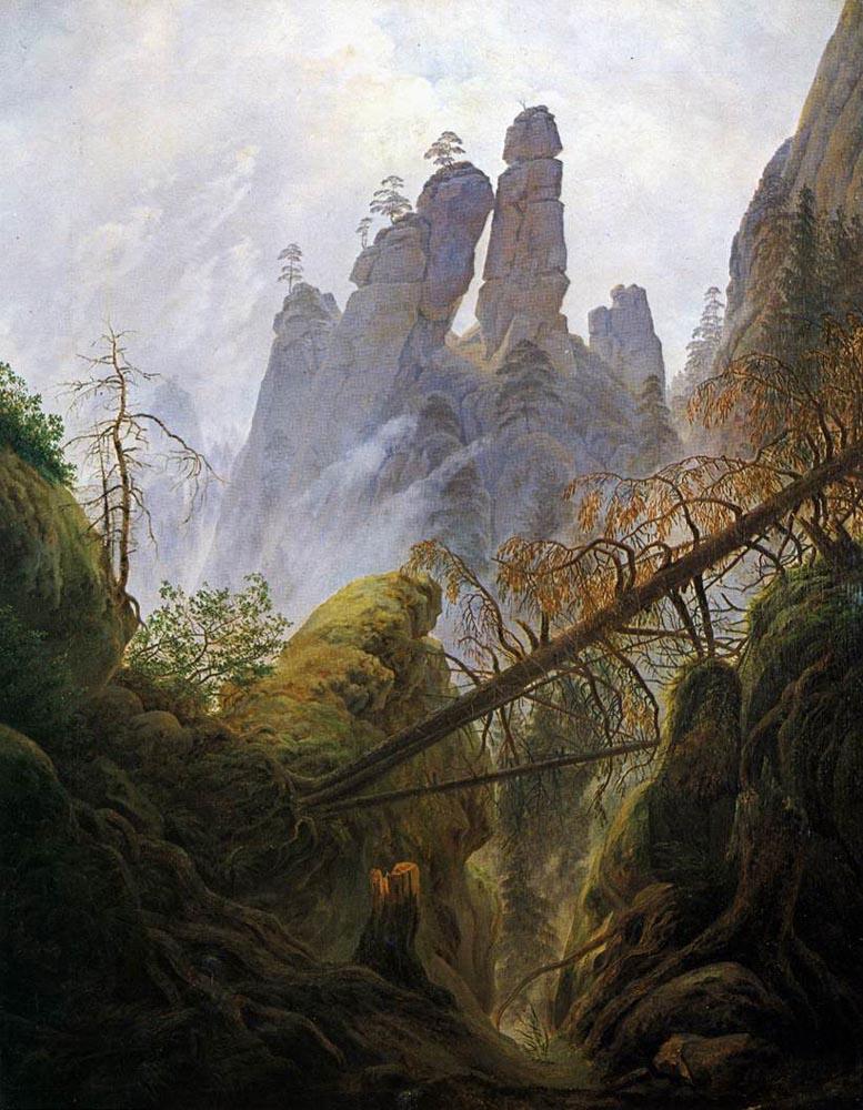 Caspar David Friedrich. Gorge