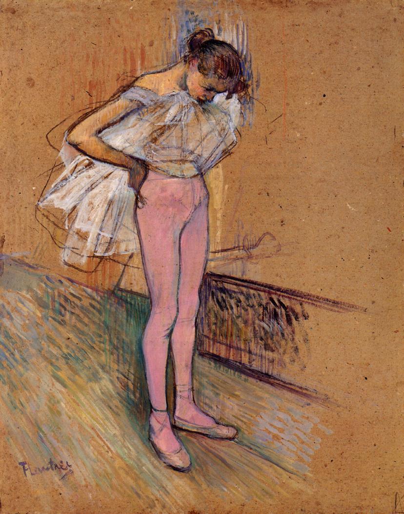 Henri de Toulouse-Lautrec. Dancer adjusting her tights
