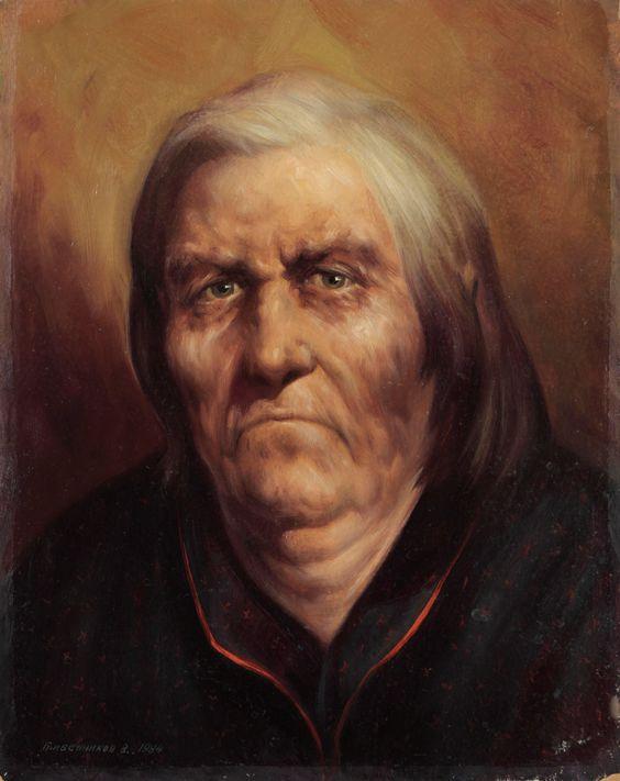 Vasily Ivanovich Gribennikov. Portrait of Mikhailovna