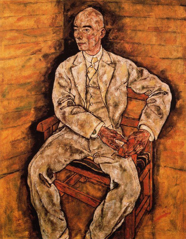 Egon Schiele. Portrait of Victor Ritter von Bauer
