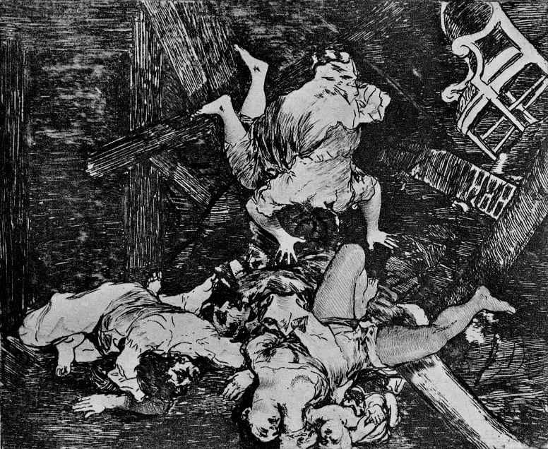 """Франсиско Гойя. Серия """"Бедствия войны"""", лист 30: Жертвы войны"""