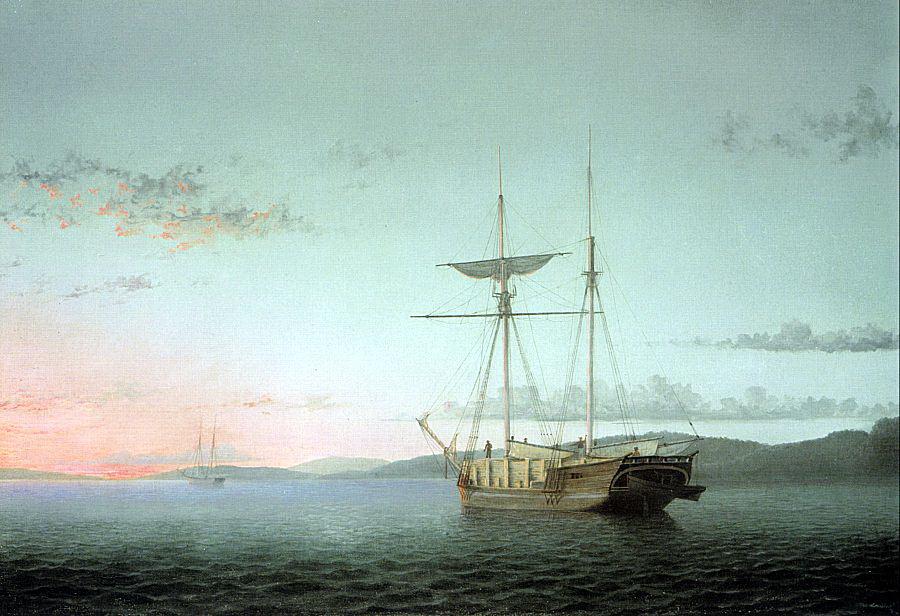 Фитц Хью Лейн. Корабль