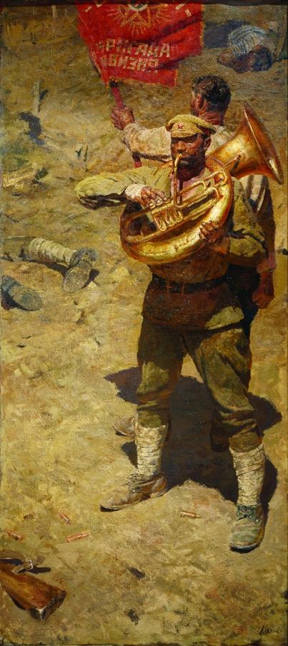 """Heliy Mikhailovich Korzhev. Triptych """"Communists International"""""""