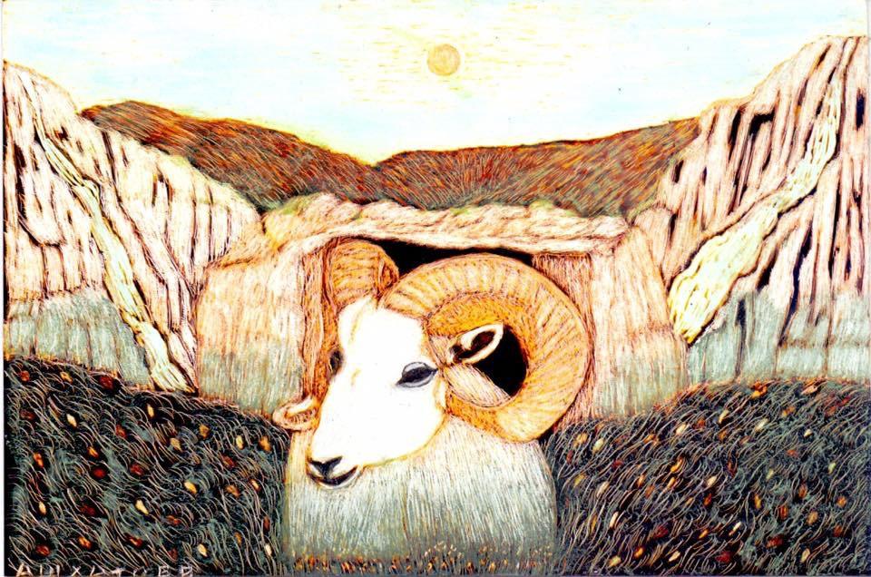 Martin Gurgenovich Ashkhatoev. Mountain goat