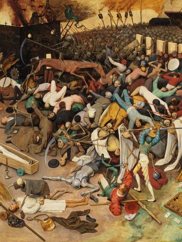 Pieter Bruegel The Elder. The triumph of death. Fragment 8. Slaughter